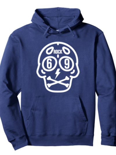 Navy rock 69 hoodie for rockstars